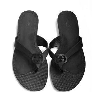Gucci rubber thong sandals